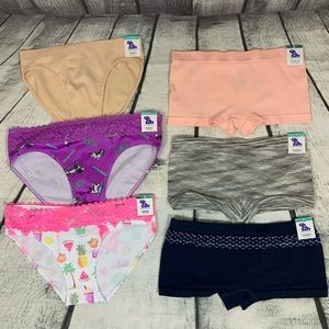 Justice Girls Oh So Soft Undies Underwear//Panties Multiple Sizes//Colors NWT